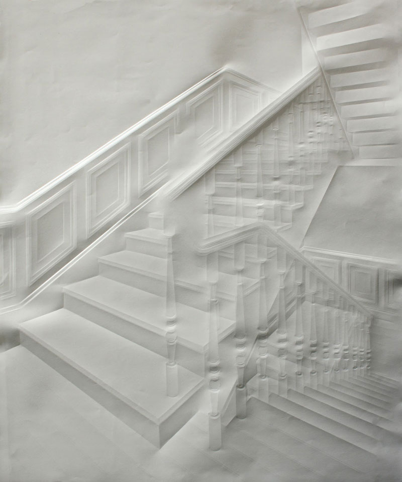 artwork made from a folded sheet of paper simon schubert (10)