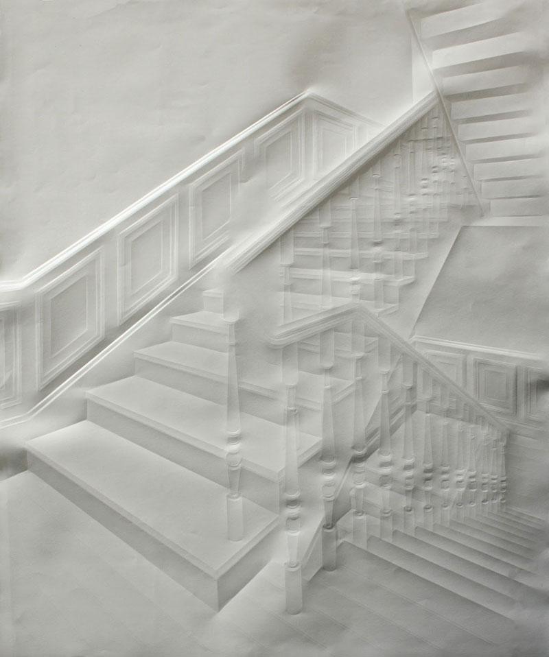artwork made from a folded sheet of paper simon schubert (10)