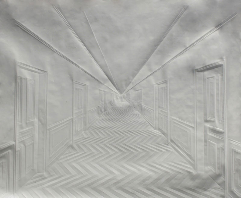 artwork made from a folded sheet of paper simon schubert (2)