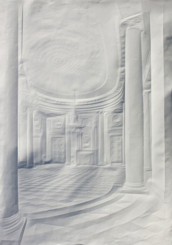 artwork made from a folded sheet of paper simon schubert (4)
