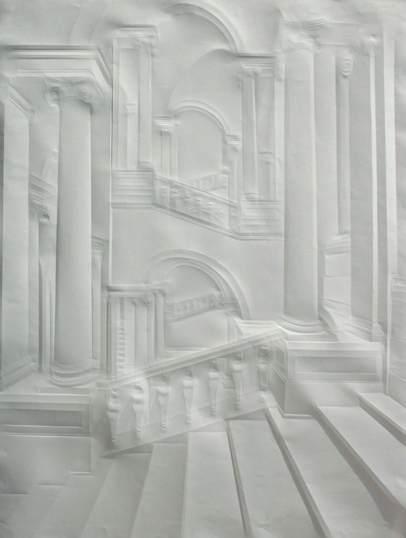 artwork made from a folded sheet of paper simon schubert (7)