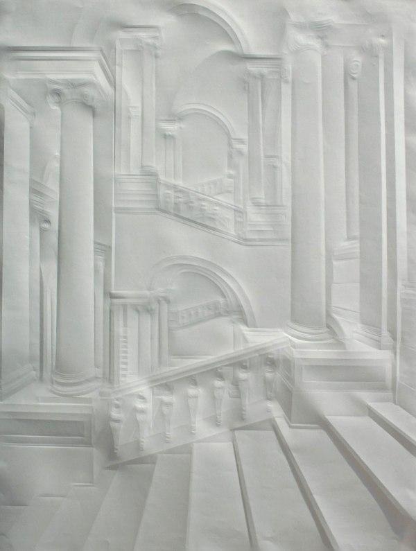 artwork made from a folded sheet of paper simon schubert 7 3D Laser Cut Paper Art by Eric Standley