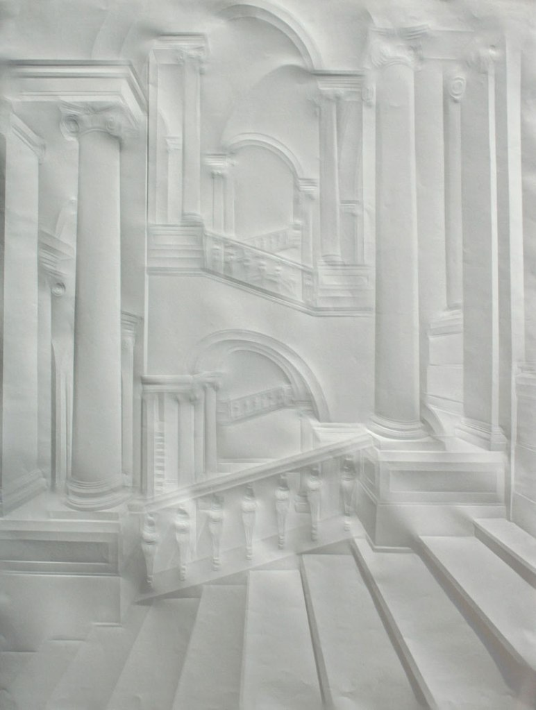 Artworks Made from a Creased Sheet ofPaper
