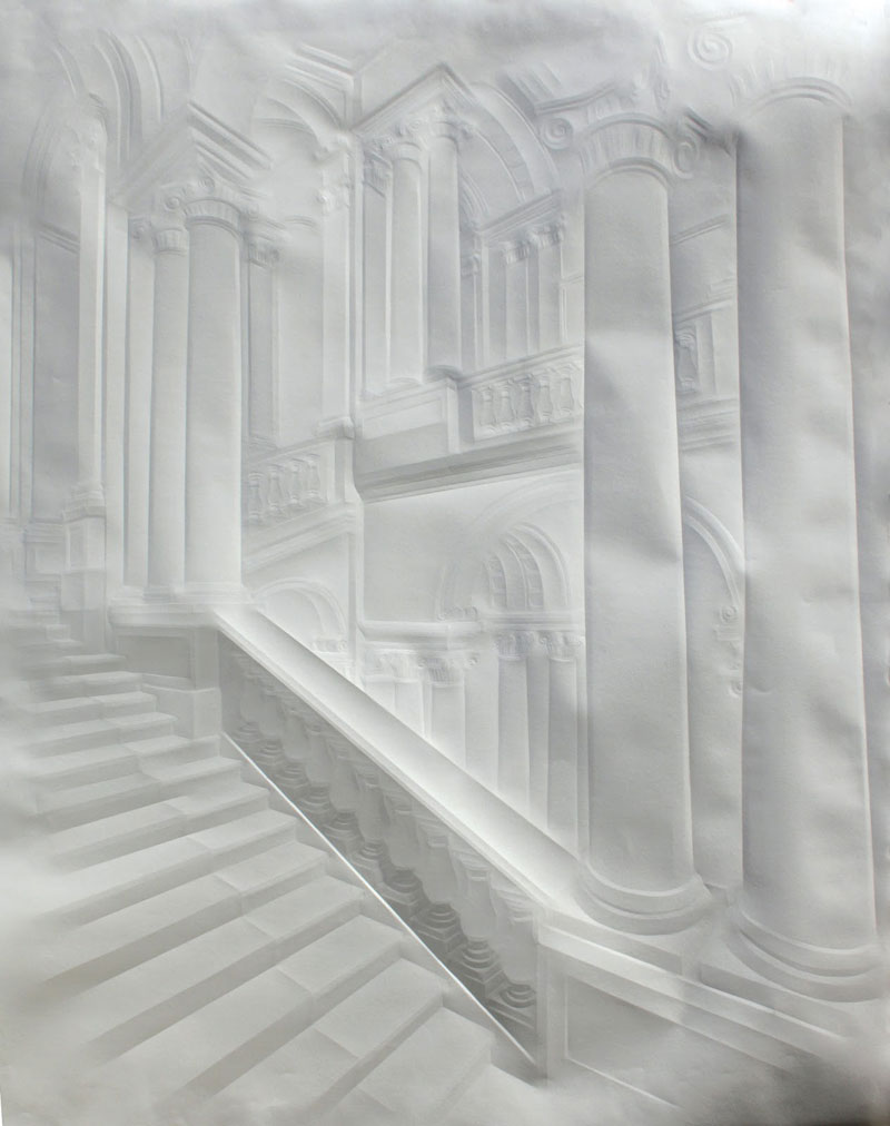 artwork made from a folded sheet of paper simon schubert (9)