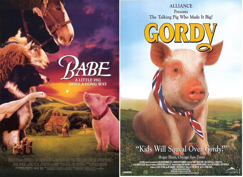 babe and gordy 1995 Bootleg Movie Posters from Ghana