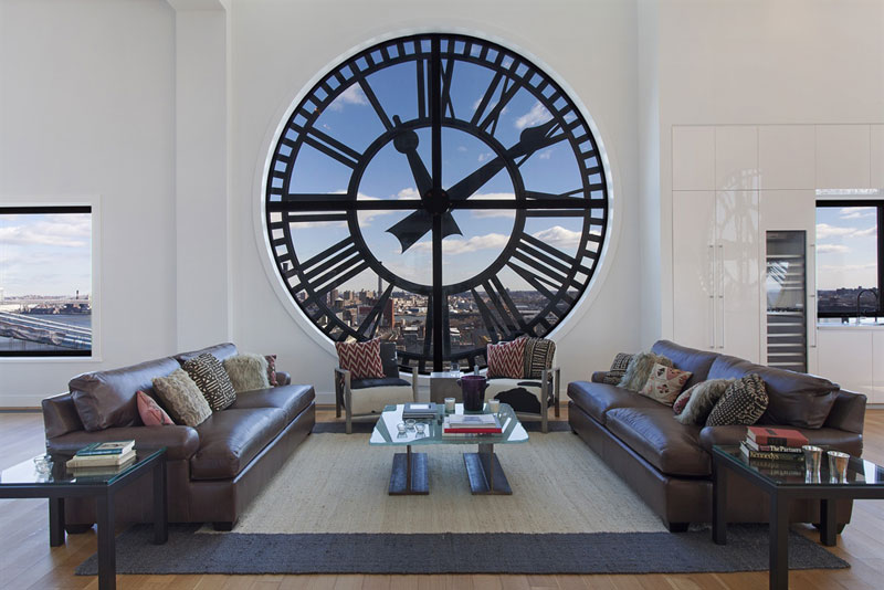 clock tower penthouse brooklyn new york 1 Artist Converts Century old Gas Station into Home