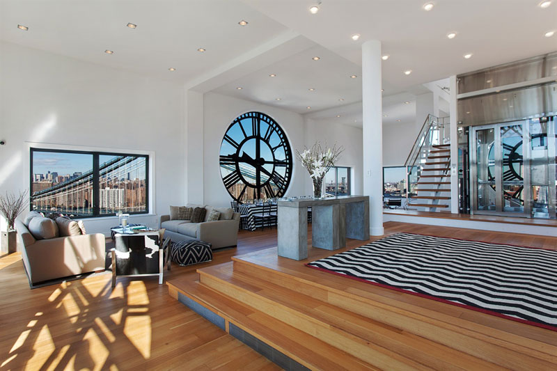 clock tower penthouse brooklyn new york 3 This Gigantic Two Story Camera is Actually a Coffee Shop