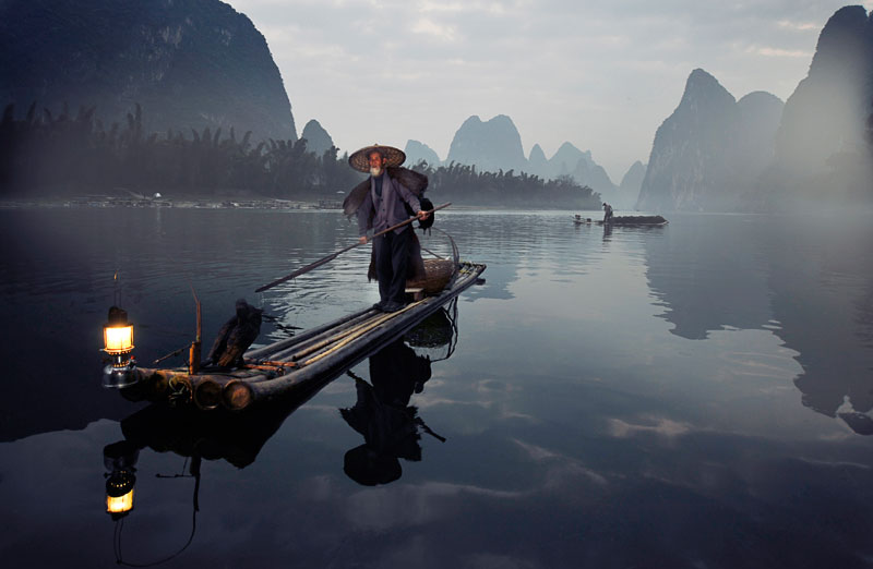Cormorant-fisherman