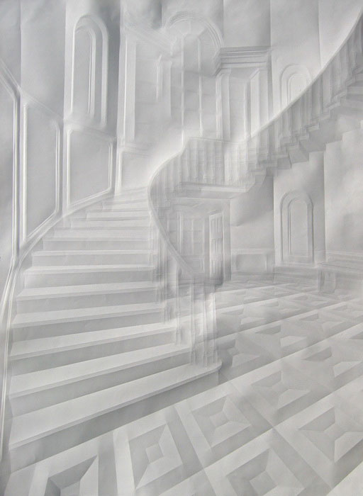 folded paper crease art reliefs simon schubert 1 The Most Intricate Hand Cut Paper Art You Will See Today