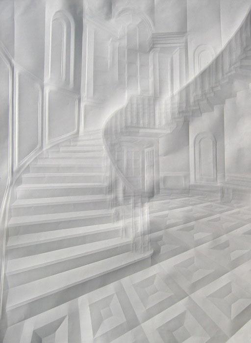 folded paper crease art reliefs simon schubert (1)