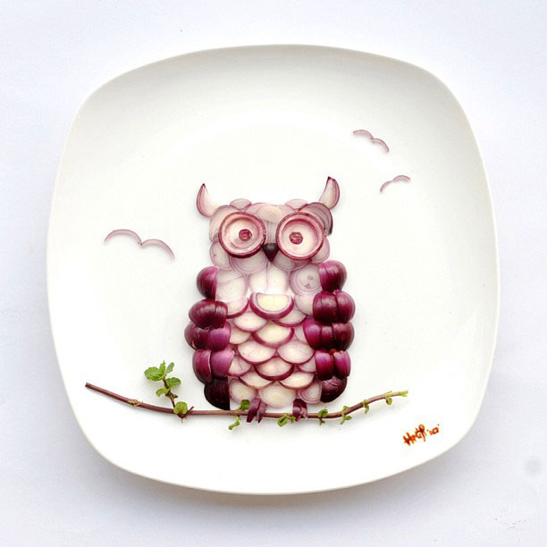 Creative Food Art Portraits by Hong Yi