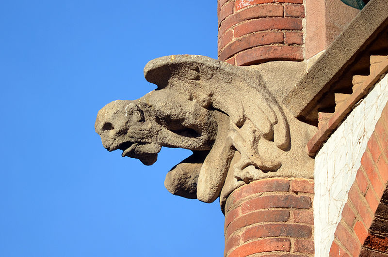 Gargoyle of Hospital de Sant Pau Barcelona