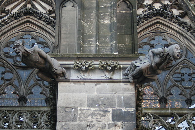 gargoyles cologne cathedral germany