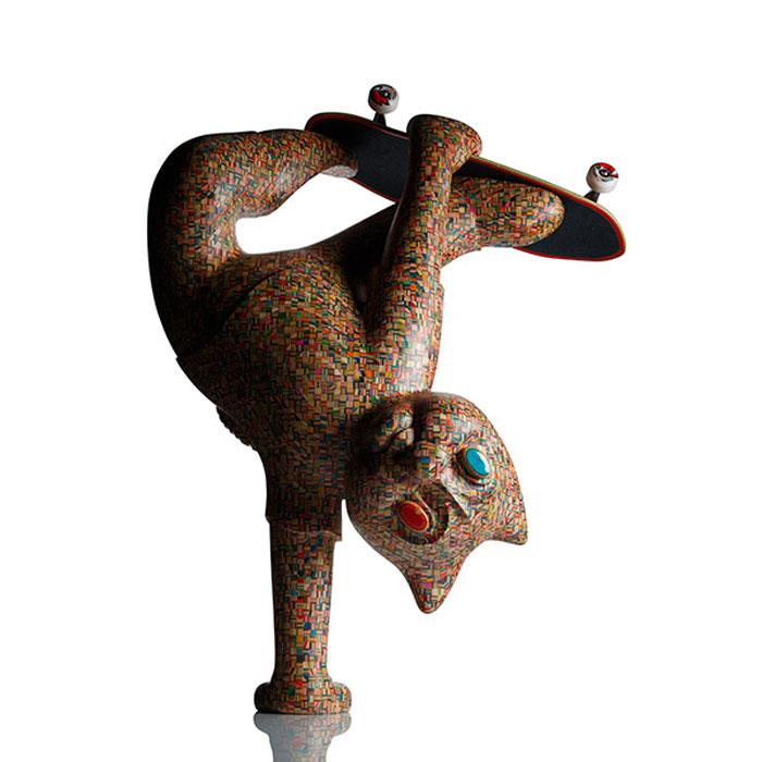 Skateboard Uses: 11 Sculptures Crafted From Old Skateboard Decks «TwistedSifter