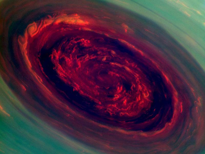 hurricane at saturn's north pole cassini mission (1)