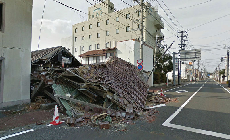 japan after 2011 earthquake and fukukshima google maps street view 9 Haunting Google Street Views of the Great East Japan Earthquake