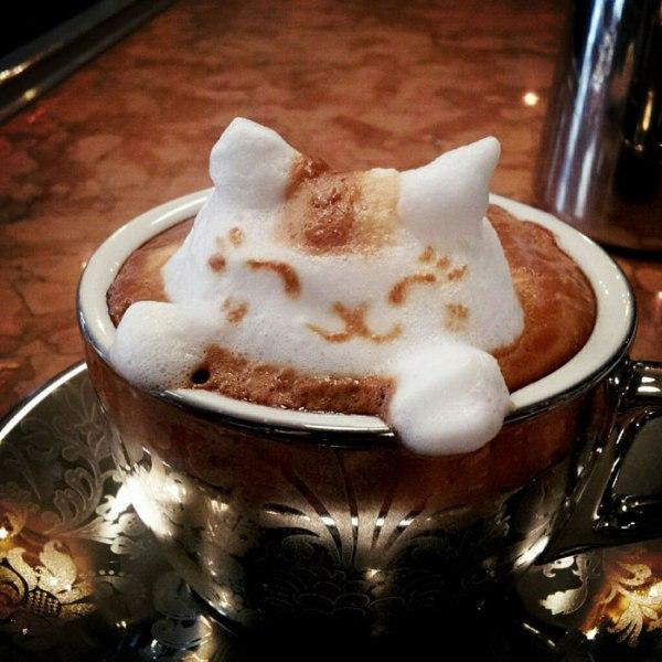 latte coffee art kazuki yamamoto george 10g twitter 1 How 10 Famous Artists Would Serve Thanksgiving