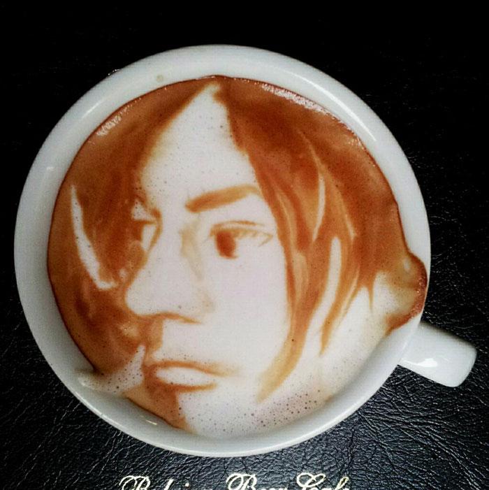 latte coffee art kazuki yamamoto george_10g twitter (13)