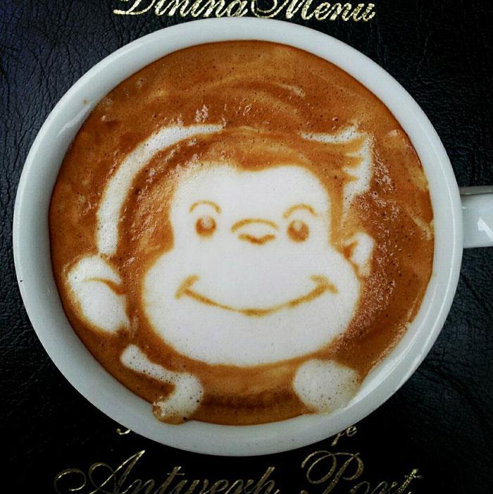 latte coffee art kazuki yamamoto george_10g twitter (14)