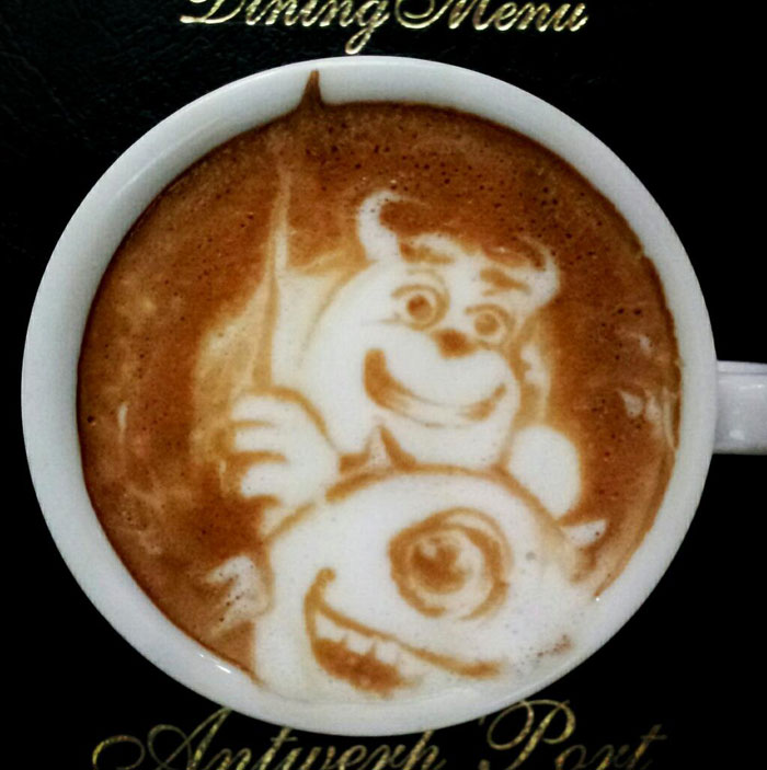 latte coffee art kazuki yamamoto george_10g twitter (16)