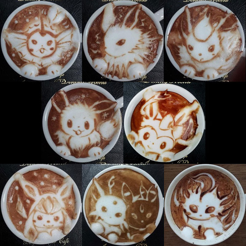 latte coffee art kazuki yamamoto george_10g twitter (18)