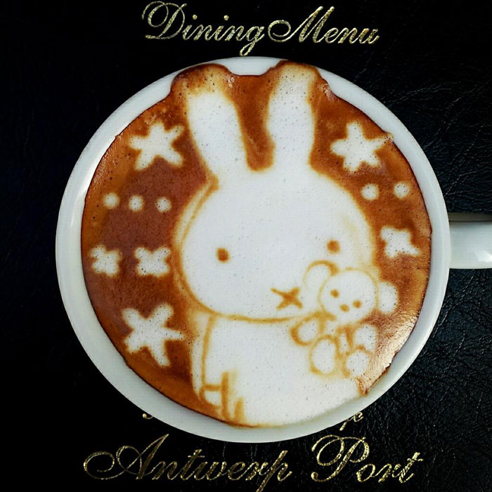 latte coffee art kazuki yamamoto george_10g twitter (4)