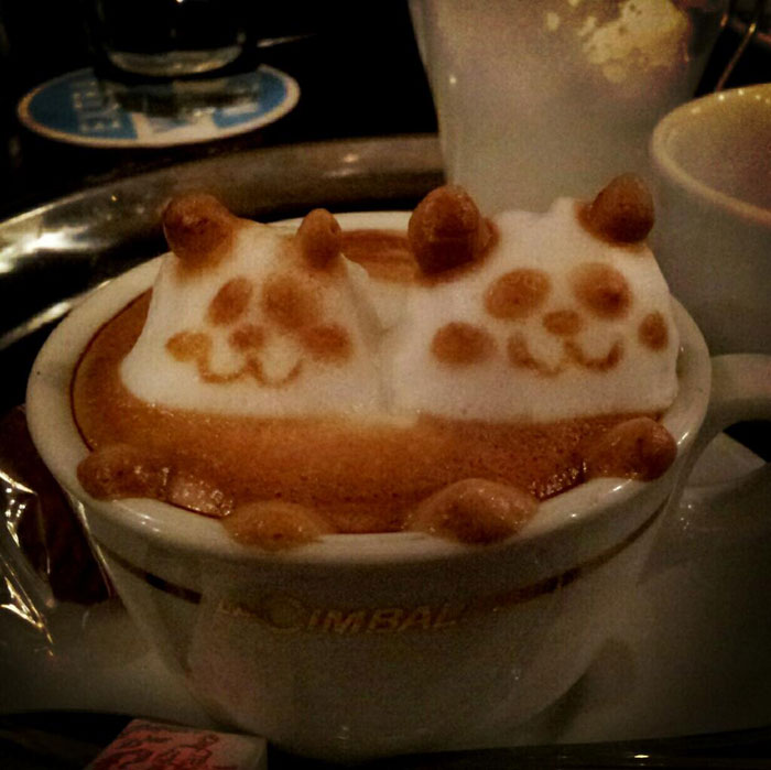 latte coffee art kazuki yamamoto george_10g twitter (5)