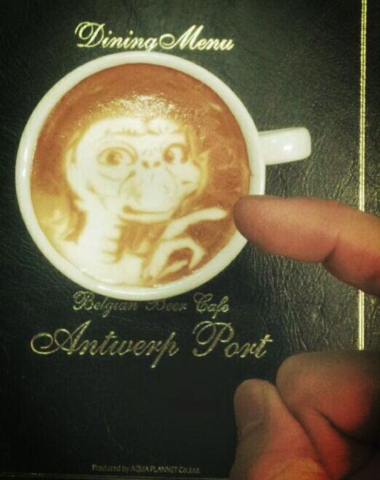 latte coffee art kazuki yamamoto george_10g twitter (6)