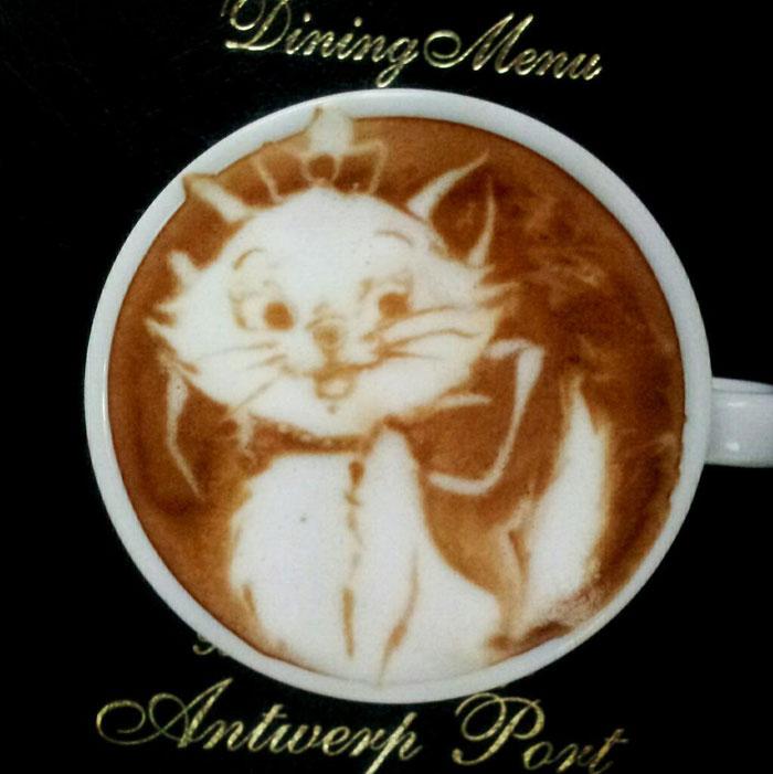 latte coffee art kazuki yamamoto george_10g twitter (7)