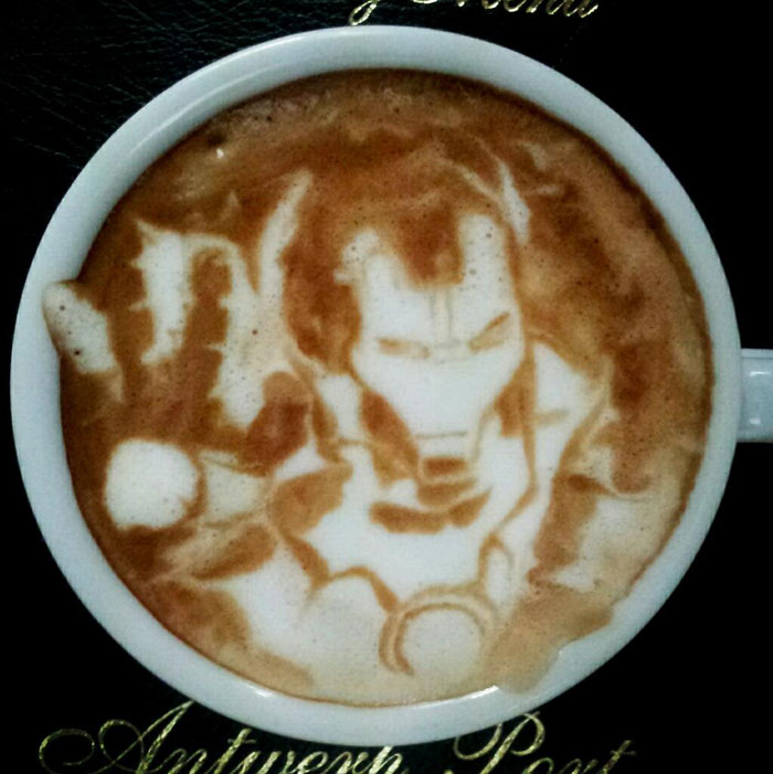latte coffee art kazuki yamamoto george_10g twitter (8)