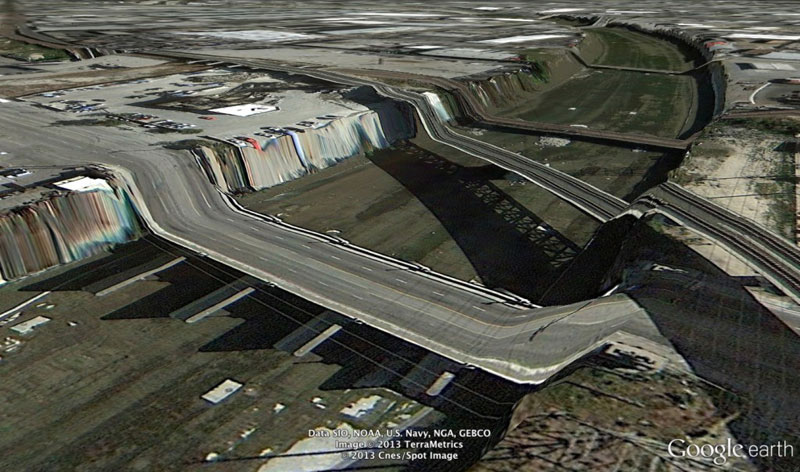 los-angeles-google earth glitches errors clement valla