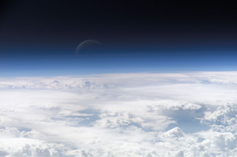 Picture of the Day: Atop Earth's Atmosphere