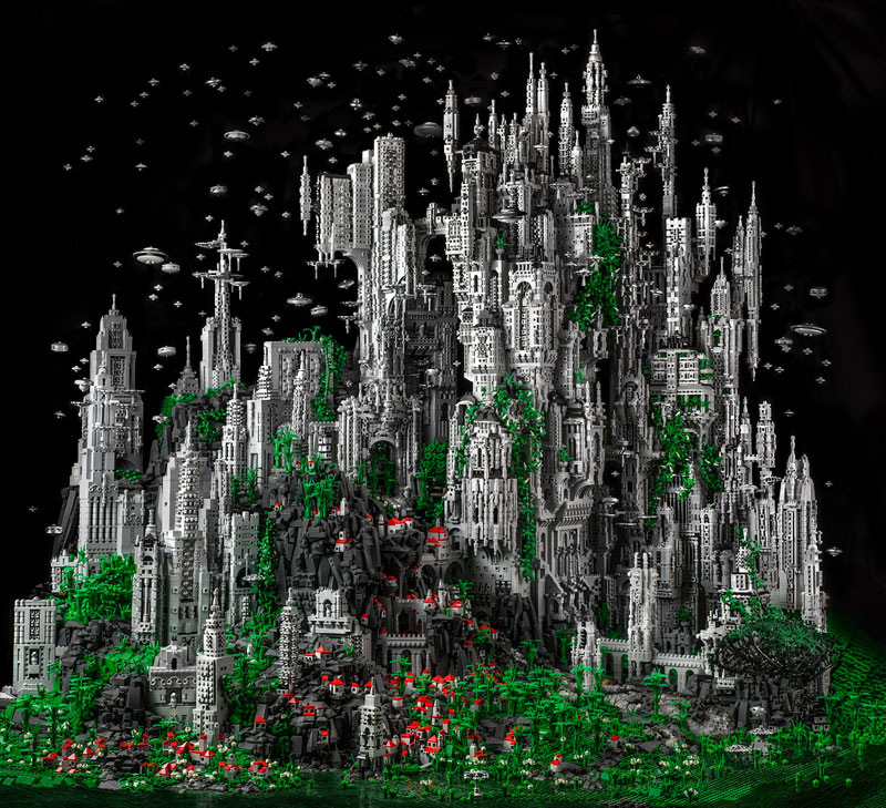 odan contact 1 200 000 piece lego fantasy lego world mike doyle 2 Mind Blowing Mixed Media Assemblages by Kris Kuksi