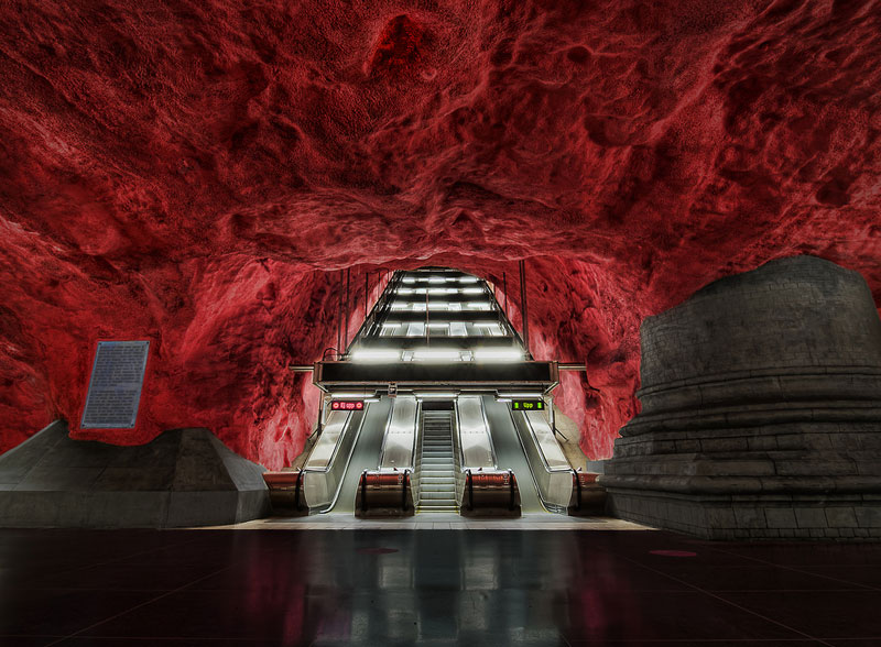 radhuset court house metro station stockholm sweden Picture of the Day: Into the Dragons Lair