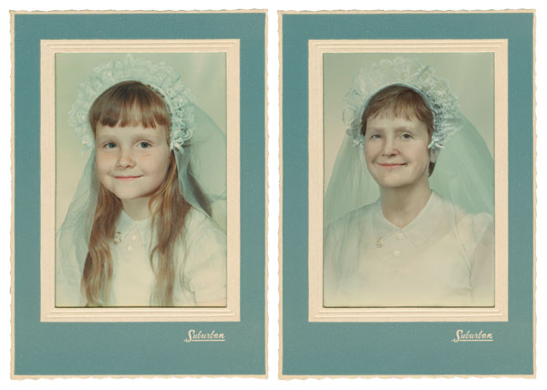 recreating childhood photos irina werning Carol 1960 & 2011 New York