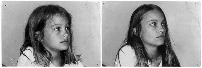 recreating childhood photos irina werning Daphne 1986 & 2011 Paris
