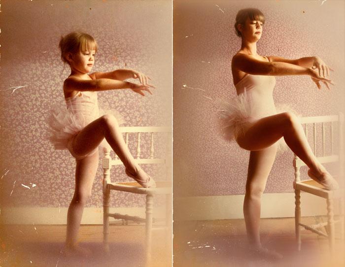 recreating childhood photos irina werning lea b 1980 2011 paris Babies Tasting Lemons for the First Time