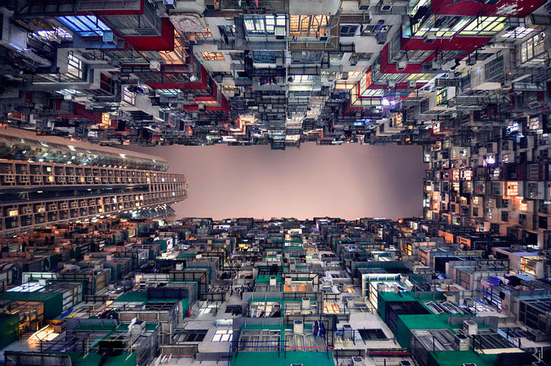 romain jacquet-lagreze vertical horizon looking skywards hong kong skyscrapers (3)