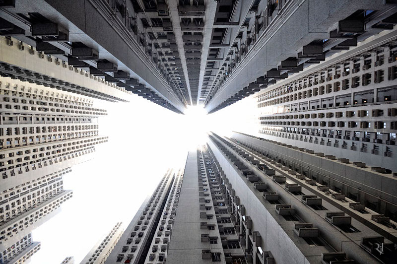 romain jacquet-lagreze vertical horizon looking skywards hong kong skyscrapers (7)