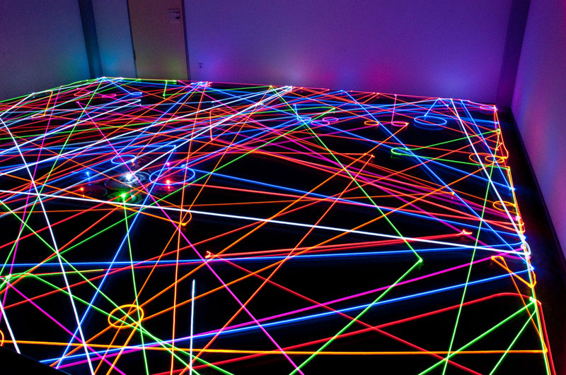 roomba floor path long exposure light painting 1 The Coolest Photos of Traffic Lights You Will See Today