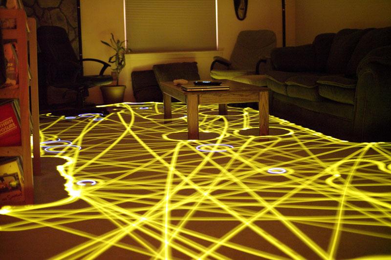 roomba floor path long exposure light painting (12)