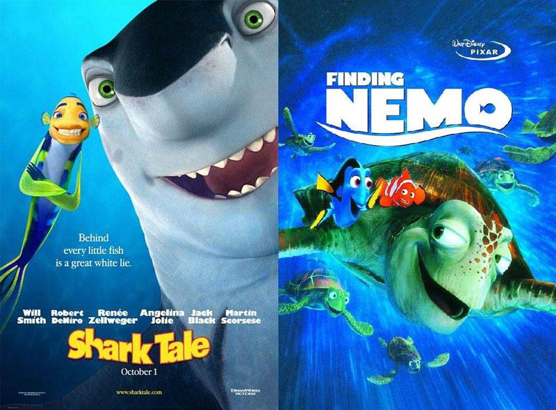 Shark-Tale-(2004)-&-Finding-Nemo-(2003)