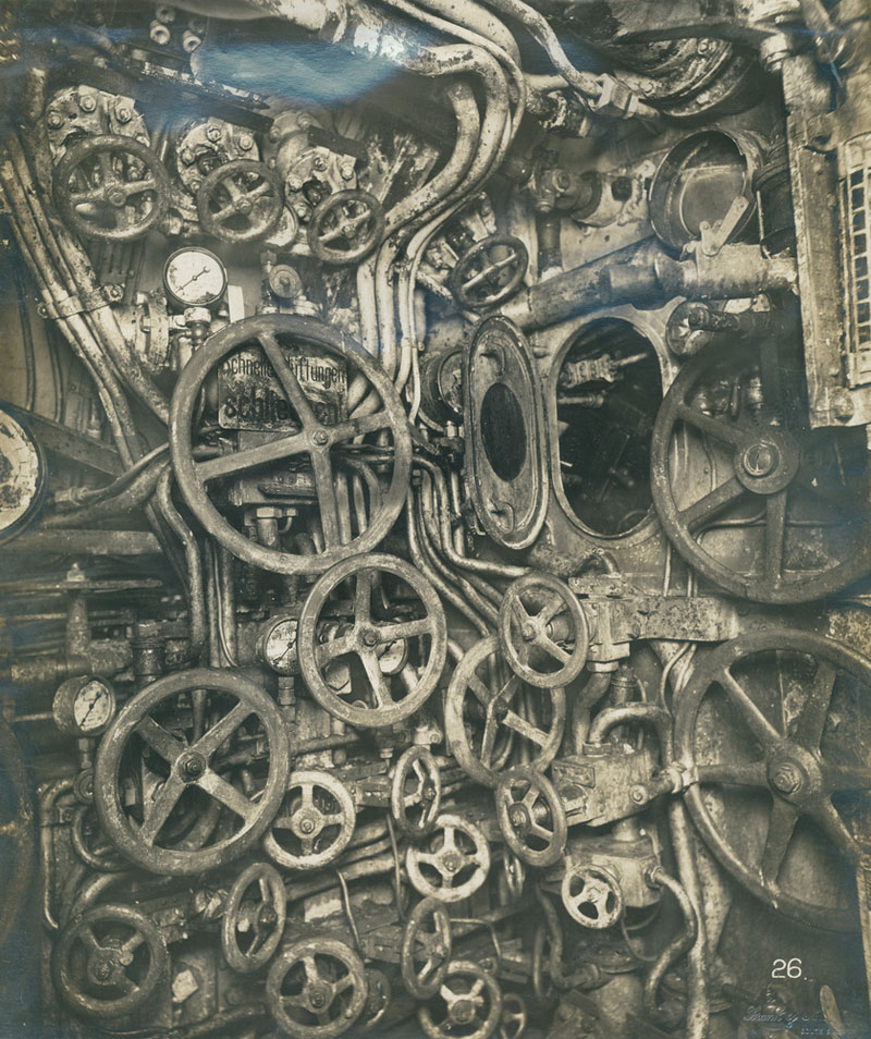UB-110-control-room-German-Submarine-1918