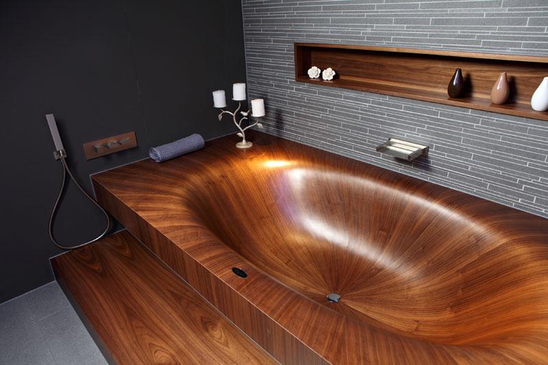 Superb Wooden Bathtubs All Wood Baths By Alegna (5)