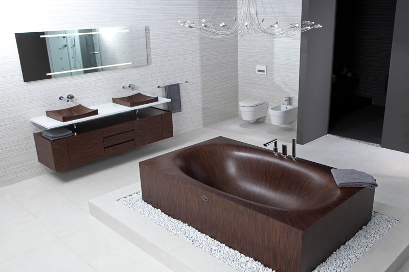 wooden bathtubs all wood baths by alegna 7 10 Pieces of Furniture Held Together by Tension
