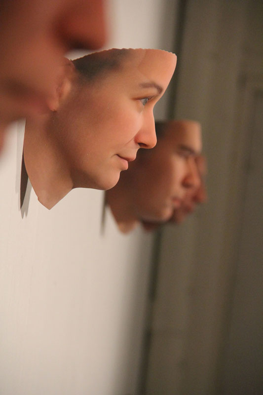 3D Faces Printed from DNA in DiscardedObjects