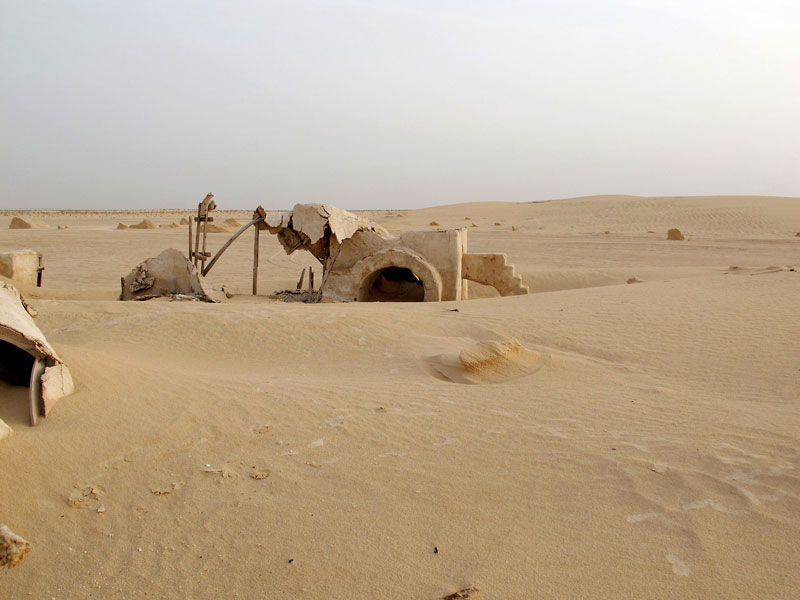 abandoned star wars tatooine movie set tunisia desert lars homestead  (5)