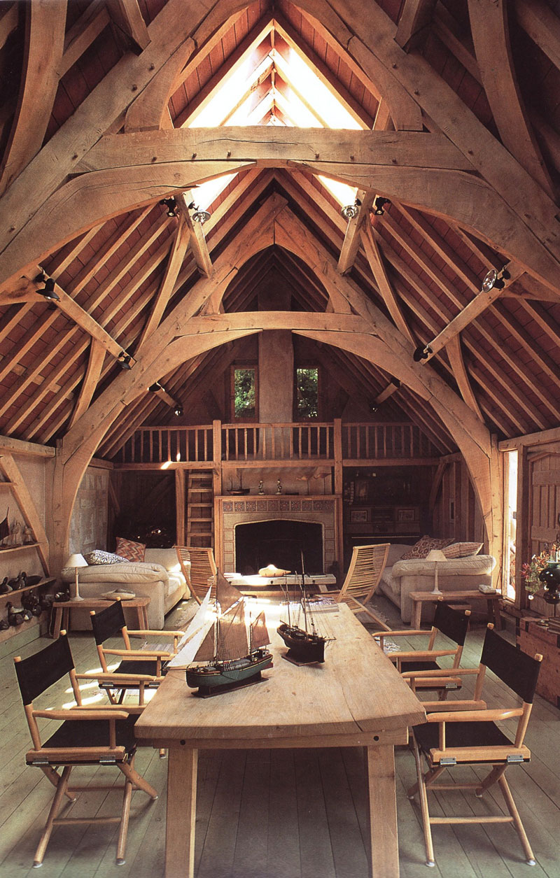 Picture of the day barn conversion twistedsifter for Oak framed house designs