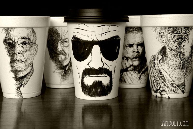 Black Marker Coffee Cup Art by CheemingBoey