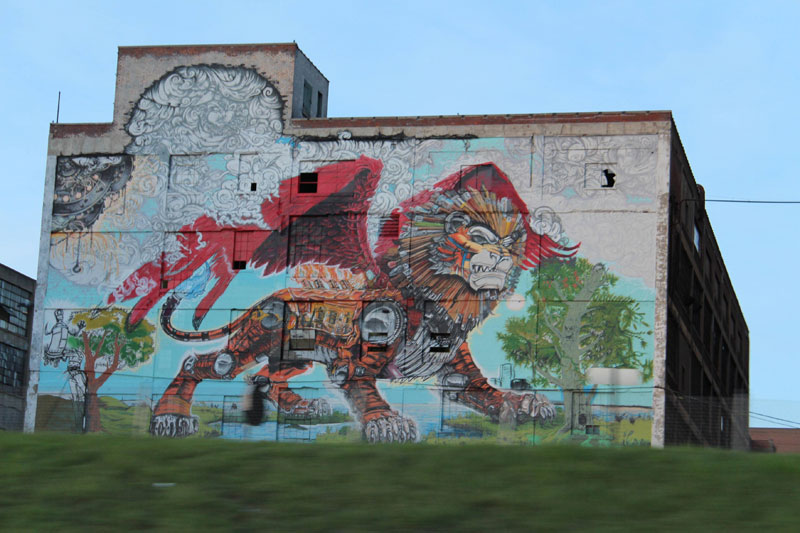 detroit chimera mural russel industrial complex building kobie solomon Picture of the Day: The Spirit of Detroit